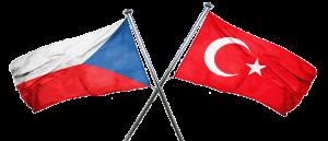 Turkey Czech Flags