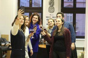 celebrating with port